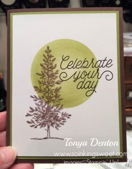 I'm so in love with Lovely As A Tree stamp set! It's so versatile!